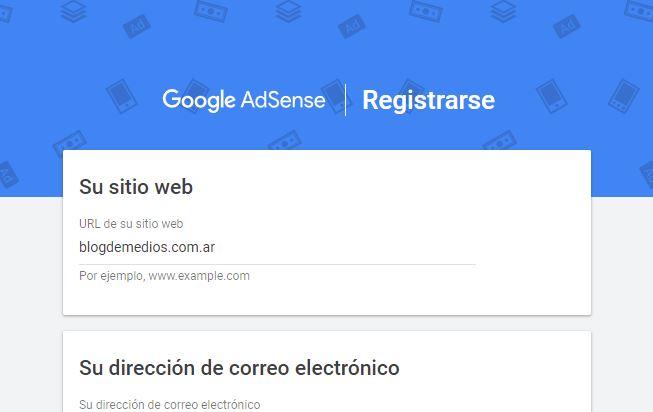adsense registro