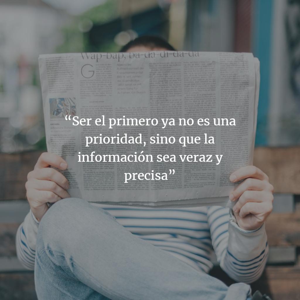 """""""Ser el primero ya no es una prioridad"""""""