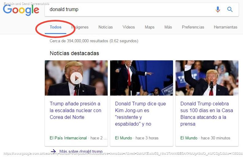 Pestaña todo google